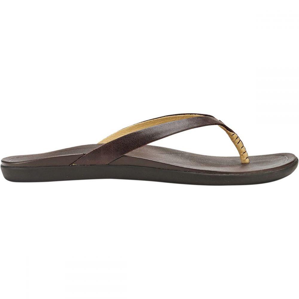 オルカイ Olukai レディース シューズ・靴 ビーチサンダル【Ho'opio Leather Flip Flop】Dark Java/Dark Java