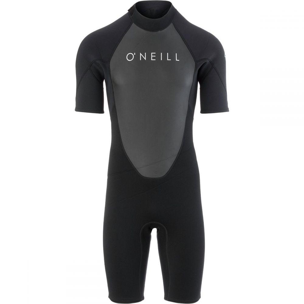 オニール O'Neill メンズ 水着・ビーチウェア ウェットスーツ【Reactor II 2mm Back - Zip Short - Sleeve Spring Wetsuits】Black/Black