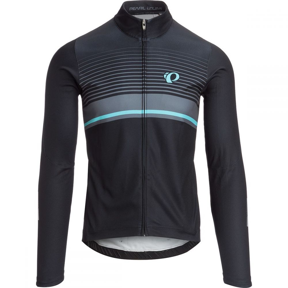 パールイズミ Pearl Izumi メンズ 自転車 トップス【Elite Pursuit Thermal Graphic Jerseys】Black/Smoked Pearl Diffuse