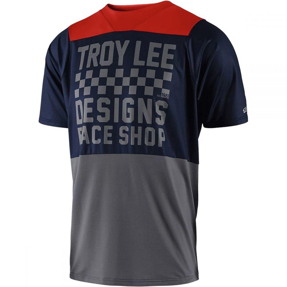 トロイリーデザイン Troy Lee Designs メンズ 自転車 トップス【Skyline Short - Sleeve Jerseys】Checker Navy/Red