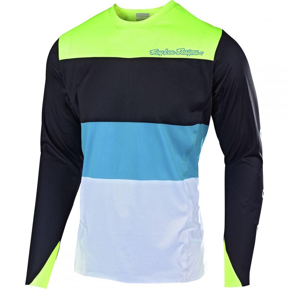 トロイリーデザイン Troy Lee Designs メンズ 自転車 トップス【Sprint Elite Long - Sleeve Jerseys】Beta Black/Flo Yellow