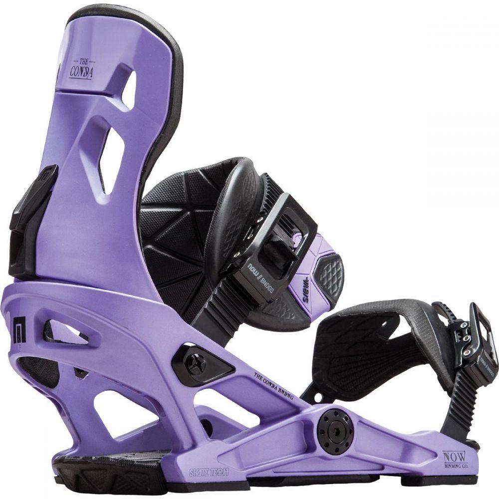 ナウ Now レディース スキー・スノーボード ビンディング【Conda Snowboard Binding】Purple