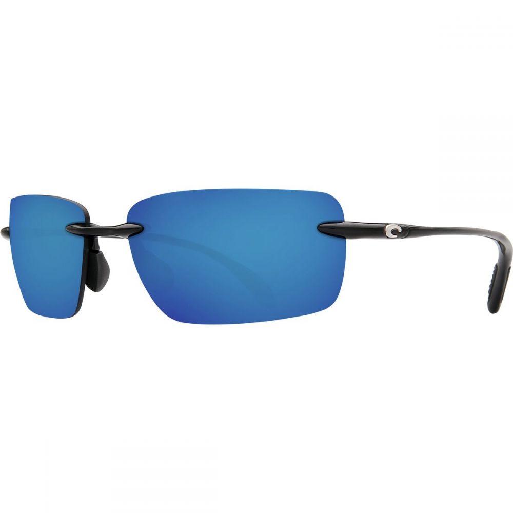 コスタ Costa レディース メガネ・サングラス【Oyster Bay 580P Polarized Sunglasses】Shiny Black Blue Mirror 580p