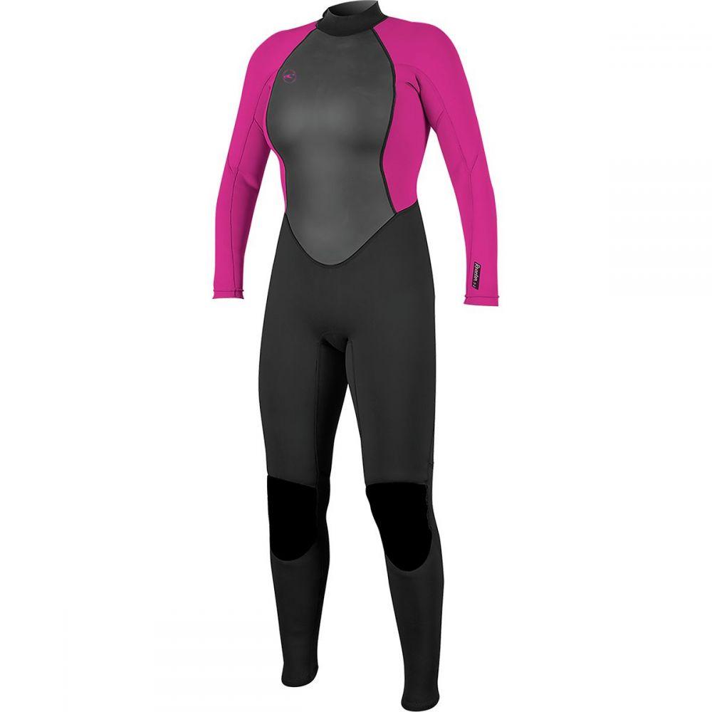 オニール O'Neill レディース 水着・ビーチウェア ウェットスーツ【Reactor II 3/2 Back - Zip Full Wetsuit】Black/Berry