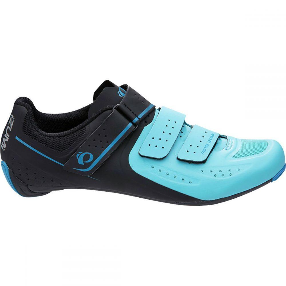 パールイズミ Pearl Izumi レディース 自転車 シューズ・靴【SELECT Road V5 Cycling Shoe】Black/Aqua Blue