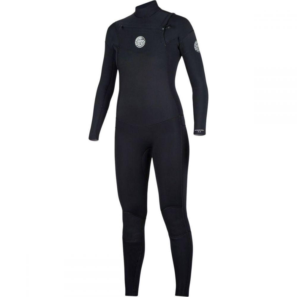 リップカール Rip Curl レディース 水着・ビーチウェア ウェットスーツ【Dawn Patrol 4/3 Chest - Zip Full Wetsuit】Black