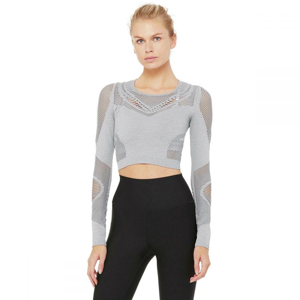 アローヨガ Alo Yoga レディース トップス Yoga【Siren Long - レディース アローヨガ Sleeve Shirt】Lead Heather, タイヤ&ホイールプラザ:6bf1a700 --- sunward.msk.ru