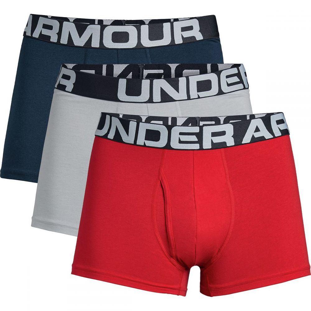 アンダーアーマー Under Armour メンズ インナー・下着【Charged Cotton 3in Underwear - 3 - Packs】Red/Academy/Mod Gray