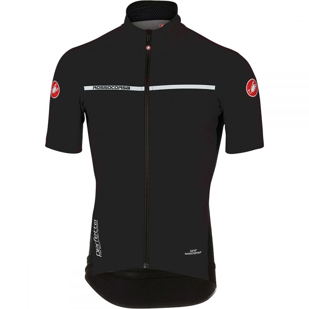 カステリ Castelli メンズ 自転車 トップス【Perfetto Light 2 Short - Sleeve Jerseys】Light Black