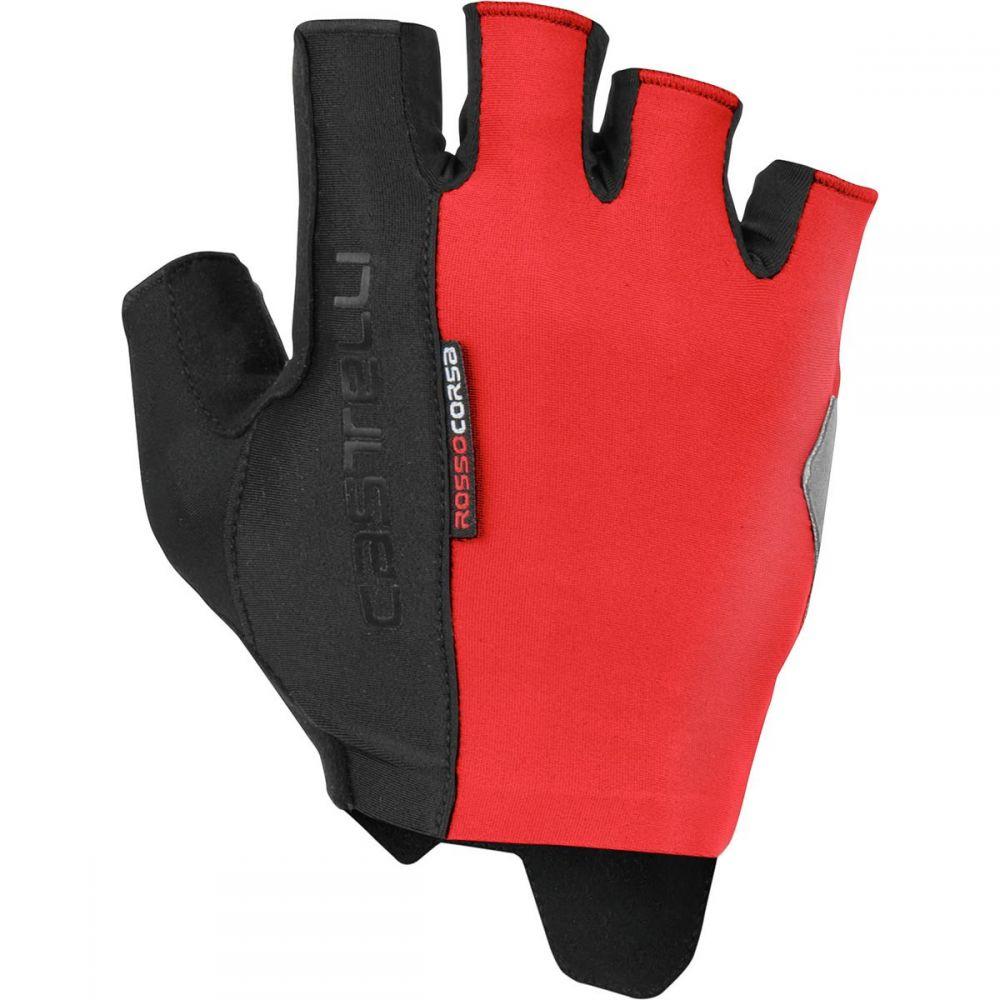 カステリ Castelli メンズ 自転車 グローブ【Rosso Corsa Espresso Gloves】Red