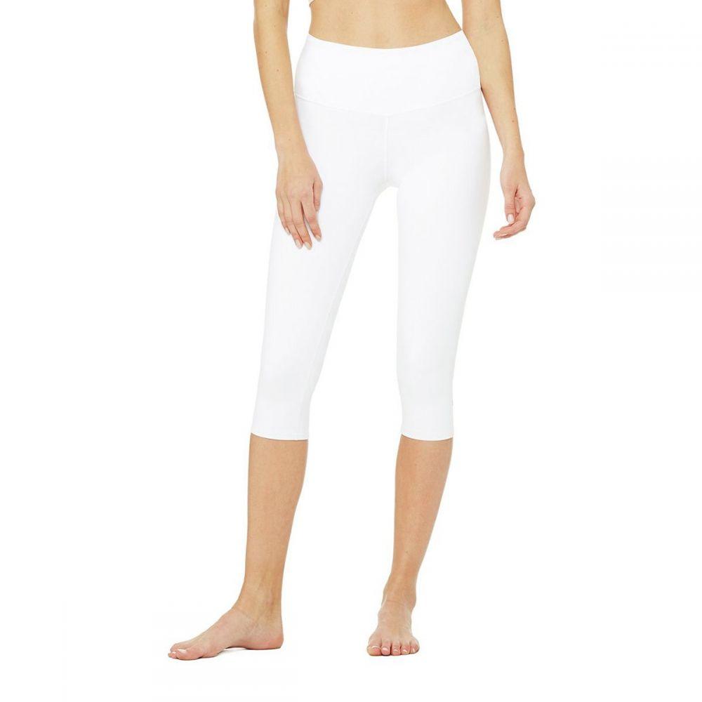 アローヨガ Alo Yoga レディース インナー・下着 スパッツ・レギンス【High - Waist Airbrush Capri Tight】White