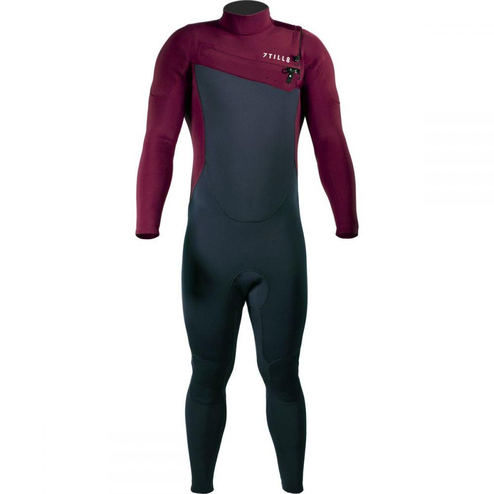 セブンティルエイト 7TILL8 メンズ 水着・ビーチウェア ウェットスーツ【Surf 3/2 Slant - Zip Fullsuits】Maroon