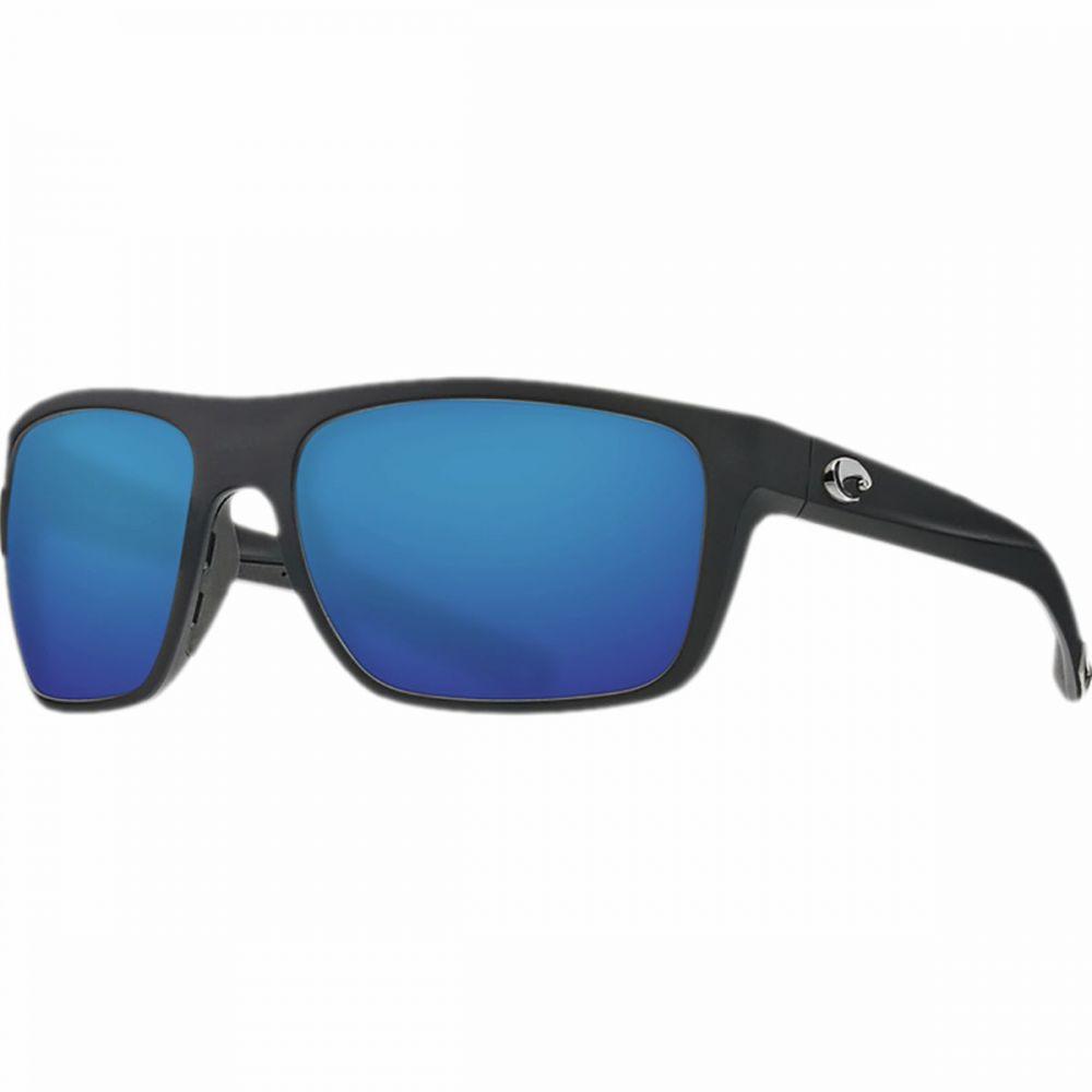 コスタ Costa レディース スポーツサングラス【Broadbill 580G Polarized Sport Sunglasses】Matte Black Frame/Blue Mirror 580G