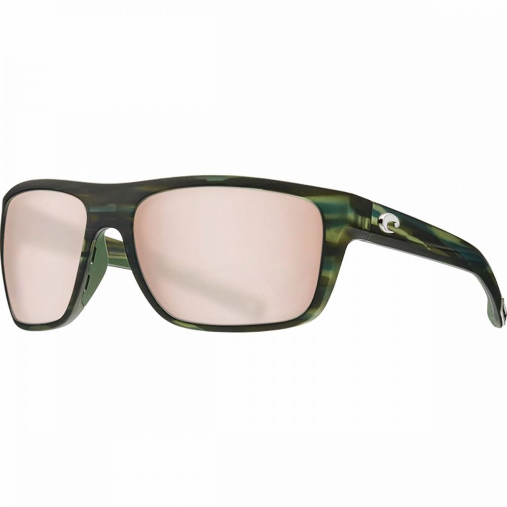 コスタ Costa レディース スポーツサングラス【Broadbill 580P Polarized Sport Sunglasses】Matte Reef Frame/Copper Silver Mirror 580P
