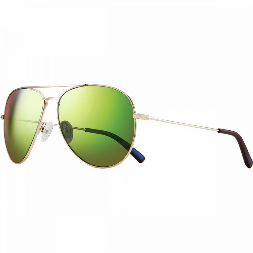 レヴォ Revo レディース メガネ・サングラス【Spark Polarized Sunglasses】Shiny Gold/Green Water