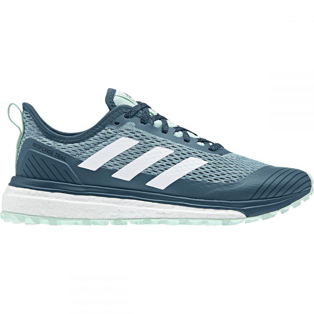 アディダス Adidas Outdoor レディース ランニング・ウォーキング シューズ・靴【Response Boost Trail Running Shoe】Black/White/Real Teal