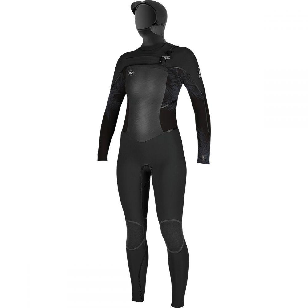 オニール O'Neill レディース 水着・ビーチウェア ウェットスーツ【Psychotech Fuze 5.5/4 Hooded Wetsuit】Black/Harbor Mist/Black