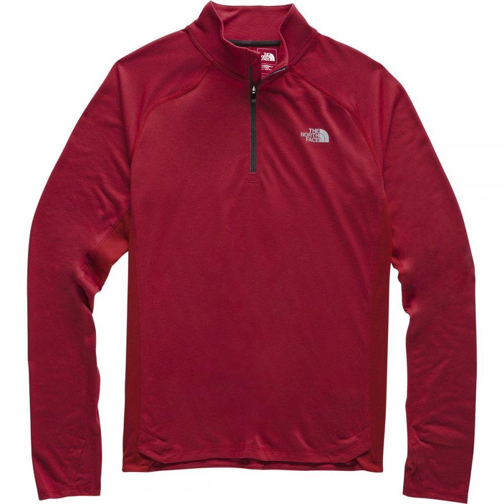 ザ ノースフェイス The North Face メンズ トップス【Essential 1/4 - Zip Tops】Cardinal Red
