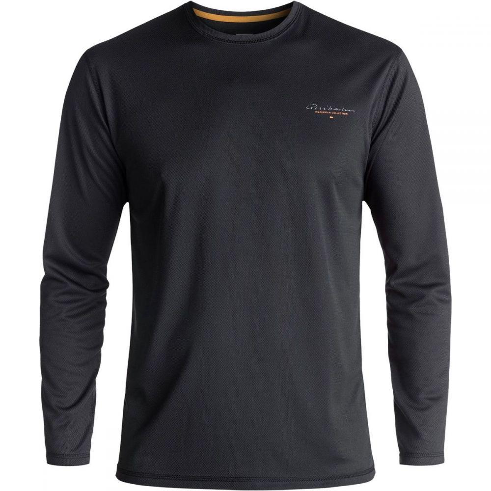 クイックシルバー Quiksilver メンズ 水着・ビーチウェア ラッシュガード【Gut Check Amphibian Long - Sleeve Surf Shirts】Black