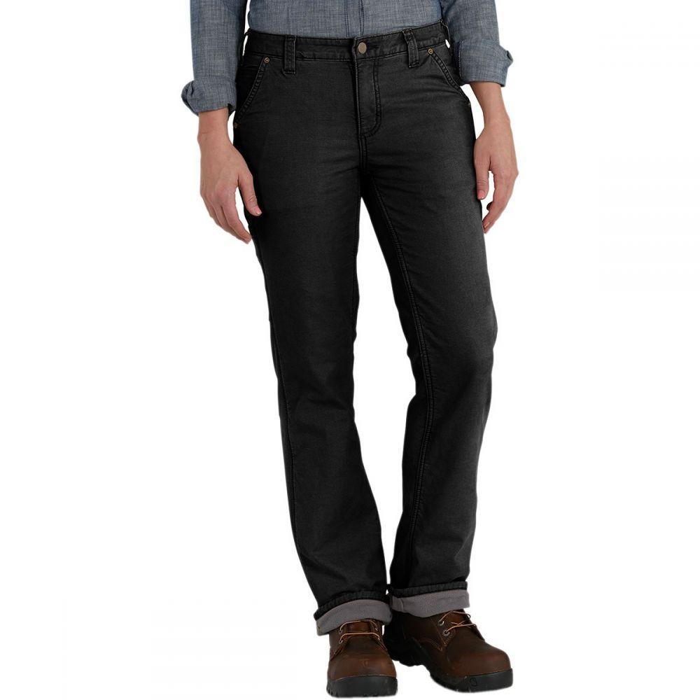 カーハート Carhartt レディース ボトムス・パンツ【Original Fit Fleece Lined Crawford Pant】Black