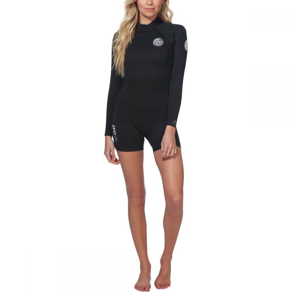 リップカール Rip Curl レディース ウェットスーツ 水着・ビーチウェア【dawn patrol 2/3 long - sleeve spring wetsuit】Black