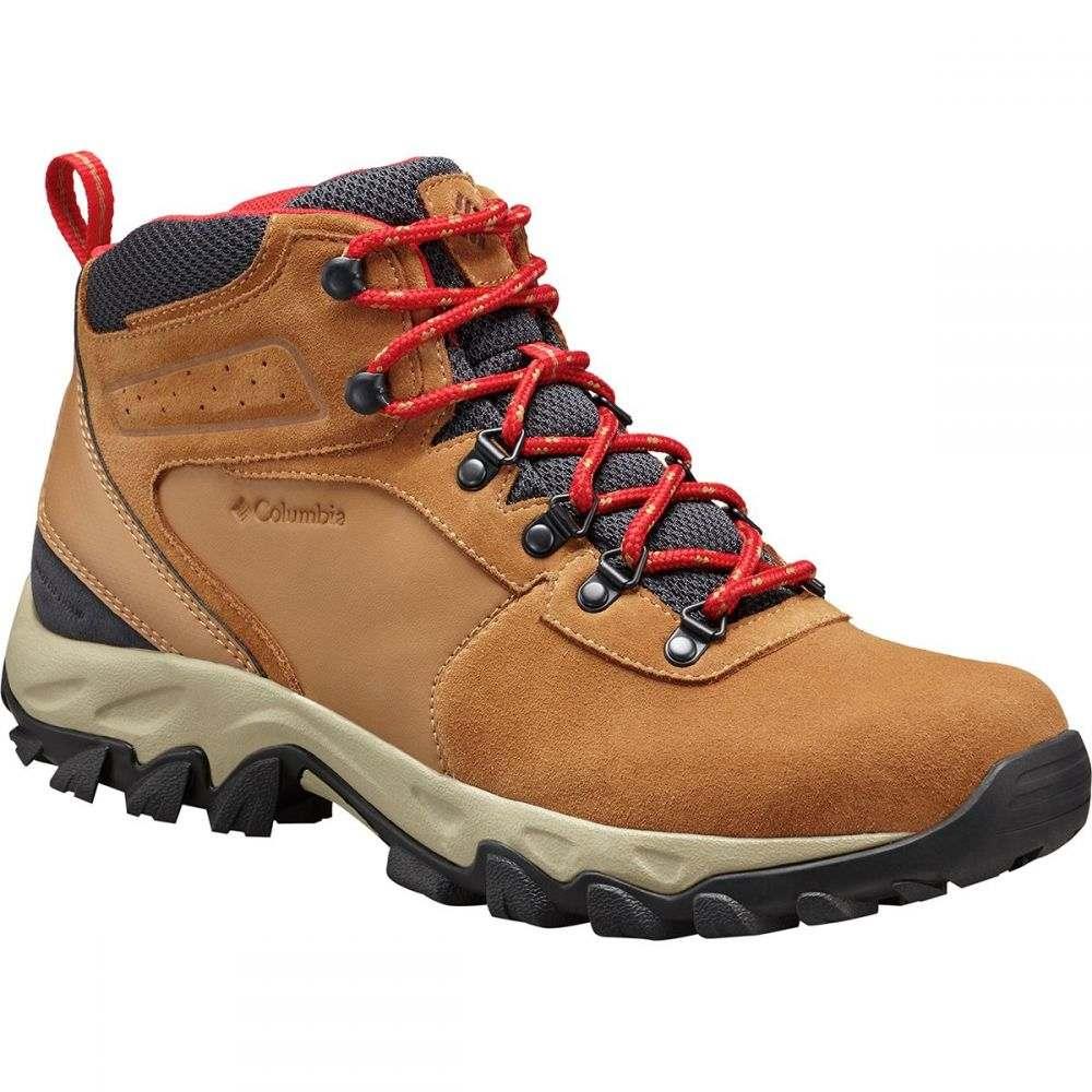 コロンビア Columbia メンズ ハイキング・登山 ブーツ シューズ・靴【newton ridge plus ii suede wp hiking boots】Elk/Mountain Red