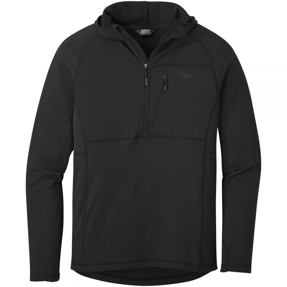 アウトドアリサーチ Outdoor Research メンズ フリース トップス【vigor half zip hoodys】Black