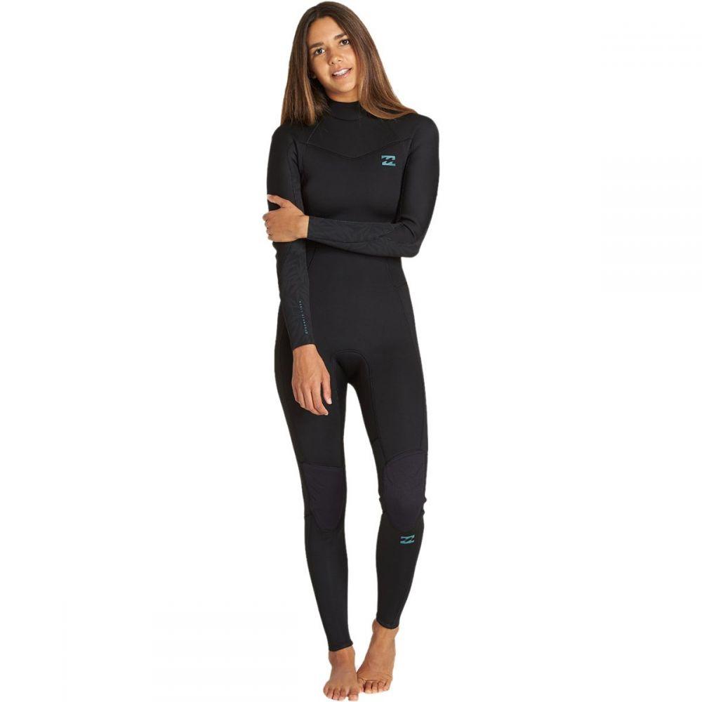 ビラボン Billabong レディース ウェットスーツ フルスーツ 水着・ビーチウェア【4/3 furnace synergy chest - zip full wetsuit】Black