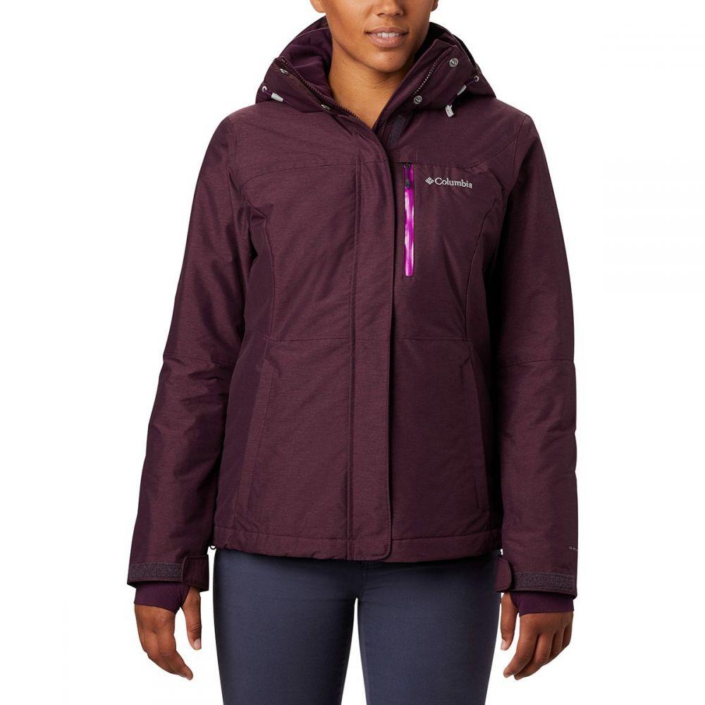 コロンビア Columbia レディース スキー・スノーボード ジャケット アウター【alpine action omni - heat hooded jacket】Black Cherry