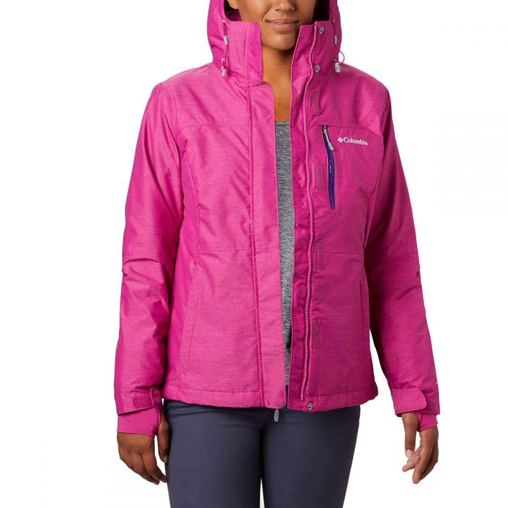 コロンビア Columbia レディース スキー・スノーボード ジャケット アウター【alpine action omni - heat hooded jacket】Fuchsia