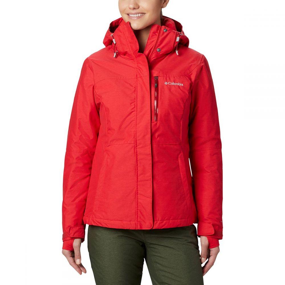コロンビア Columbia レディース スキー・スノーボード ジャケット アウター【alpine action omni - heat hooded jacket】Red Lily