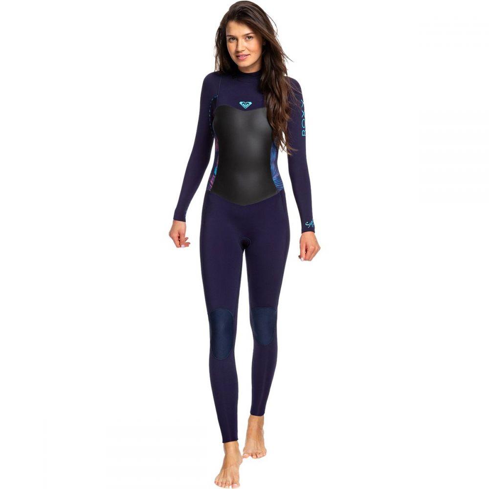 ロキシー Roxy レディース ウェットスーツ 水着・ビーチウェア【3/2 syncro back - zip gbs wetsuit】Blue Ribbon/Coral Flame