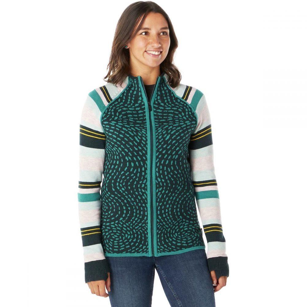 スマートウール Smartwool レディース スキー・スノーボード ニット・セーター トップス【dacono ski full - zip sweater】Everglade Heather