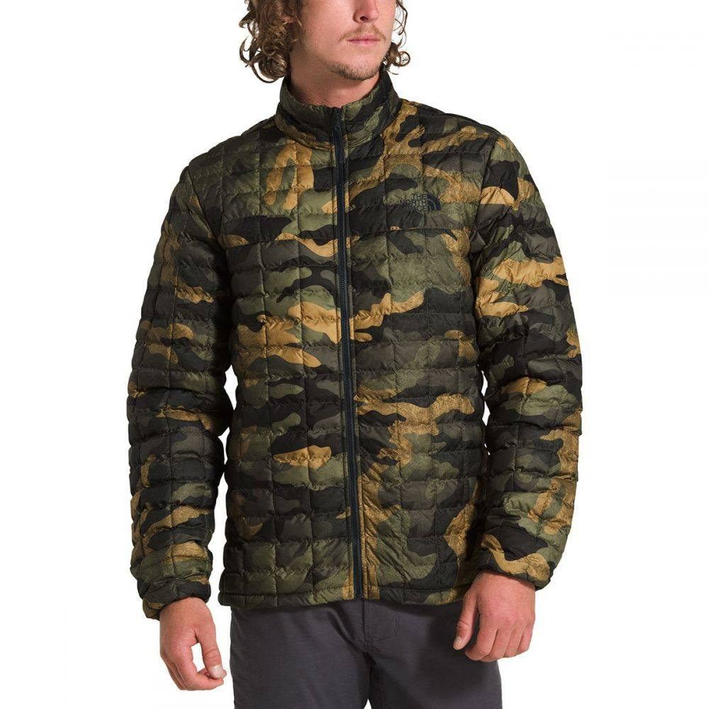 ザ ノースフェイス The North Face メンズ ジャケット アウター【thermoball eco jacket】Burnt Olive Green Waxed Camo Print