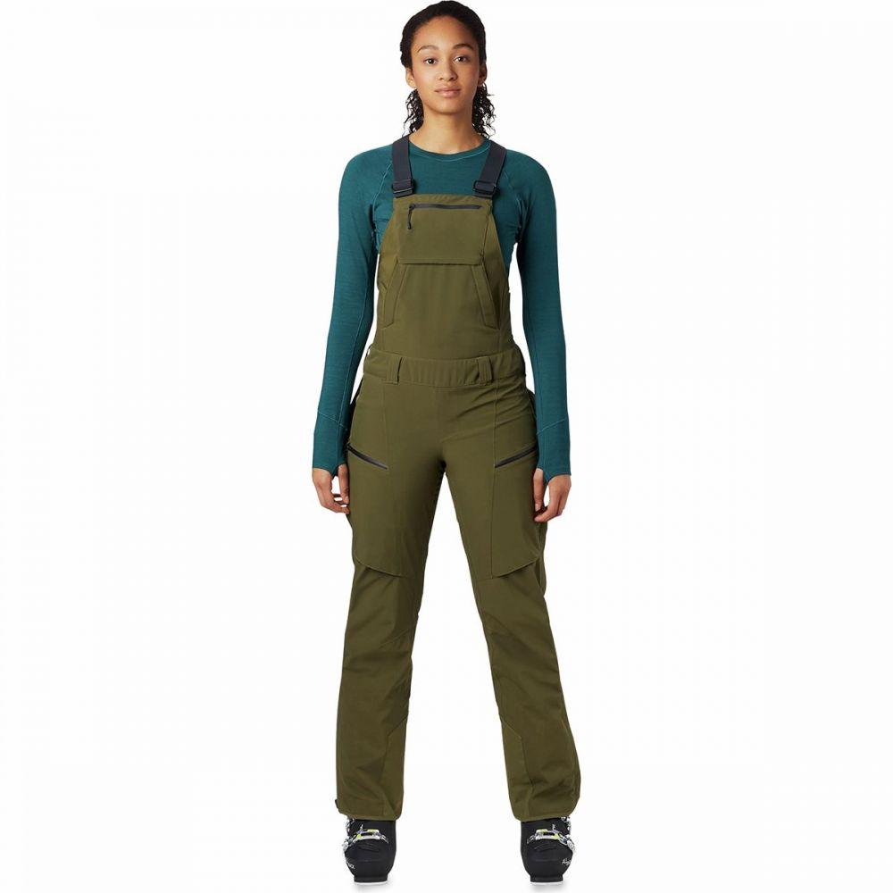 マウンテンハードウェア Mountain Hardwear レディース スキー・スノーボード ビブパンツ ボトムス・パンツ【firefall bib pant】Combat Green