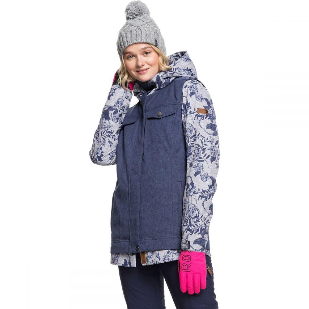 ロキシー Roxy レディース スキー・スノーボード ジャケット アウター【ceder hooded jacket】Heather Grey Botanical Flowers