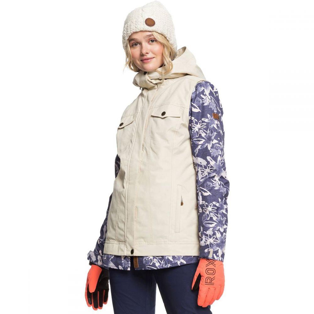 ロキシー Roxy レディース スキー・スノーボード ジャケット アウター【ceder hooded jacket】Mid Denim Bleached Flowers