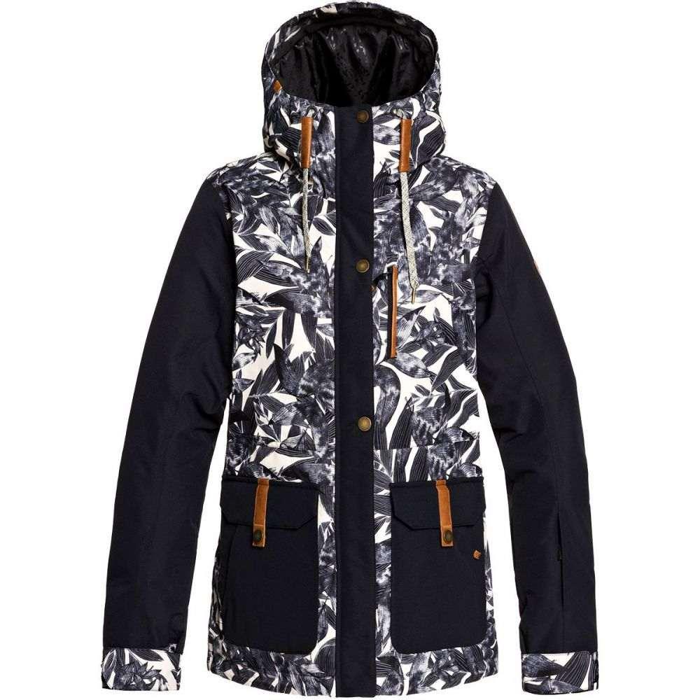 ロキシー Roxy レディース スキー・スノーボード ジャケット アウター【andie hooded insulated jacket】Oyster Gray Hawaiian Palm Leaf
