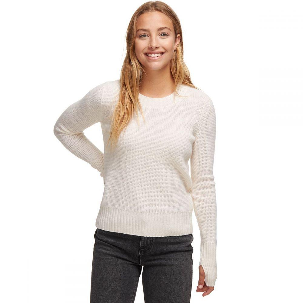 ホワイトウォーレン White + Warren レディース ニット・セーター トップス【slim thermal crewneck sweater】Pearl White