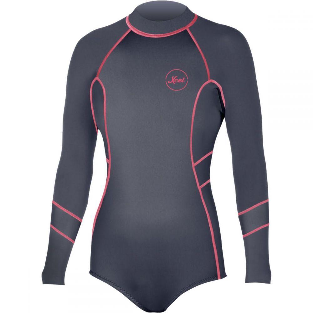エクセル XCEL レディース ウェットスーツ 水着・ビーチウェア【long - sleeve back - zip 2mm springsuit】Gunmetal