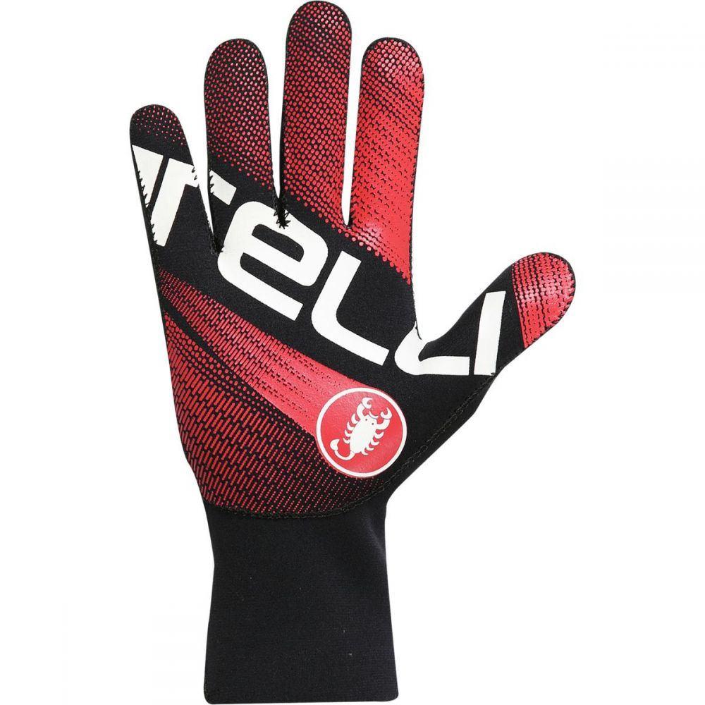 カステリ Castelli メンズ 自転車 グローブ【diluvio light glove】Black/Red