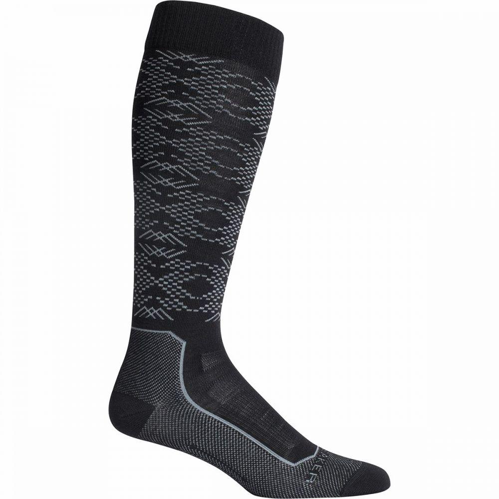 アイスブレーカー Icebreaker ユニセックス スキー・スノーボード ソックス【ski+ ultralight over the calf sock】Crystalline Black