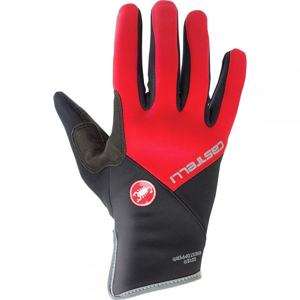 カステリ Castelli レディース 自転車 グローブ【scalda pro glove】Red/Black