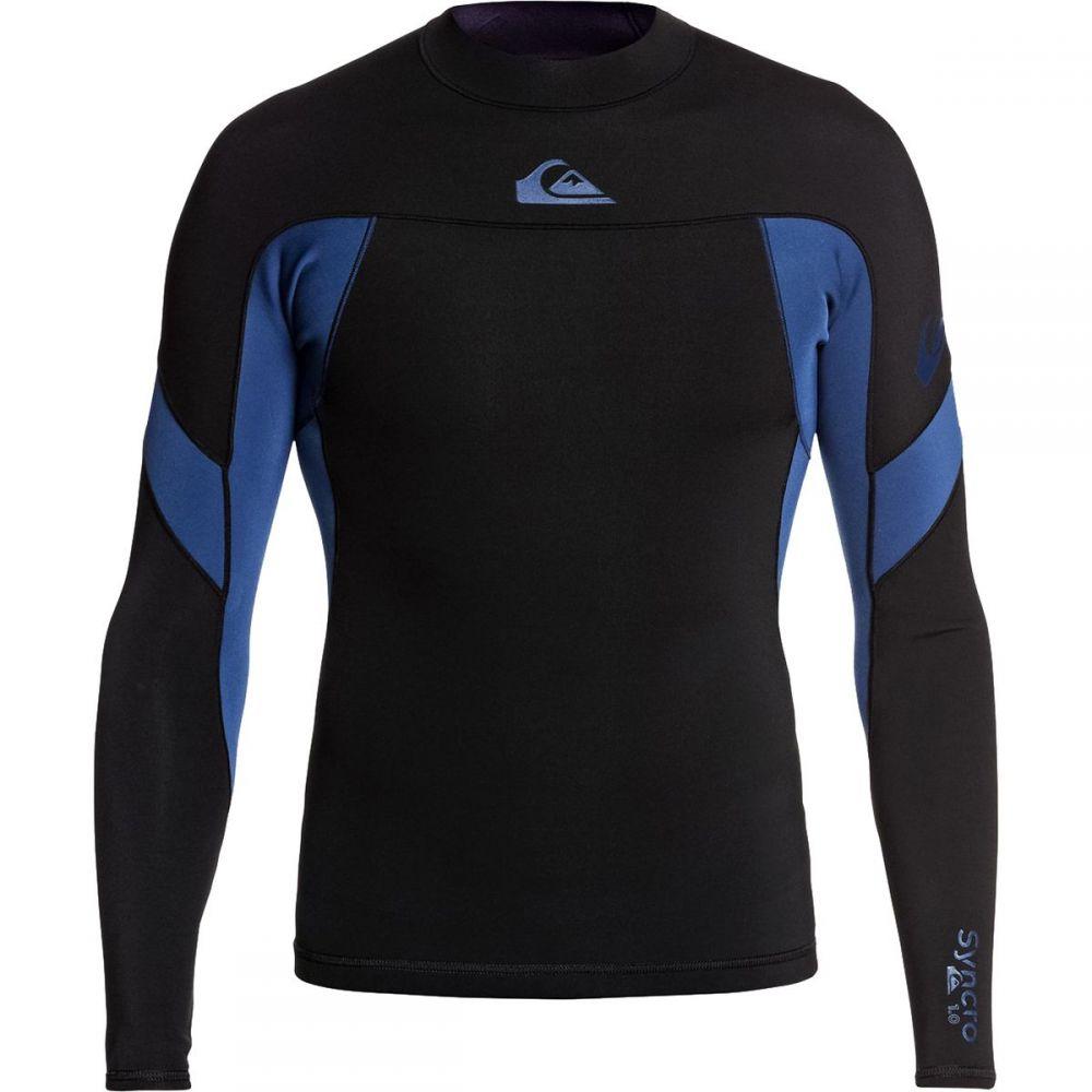 クイックシルバー Quiksilver メンズ ウェットスーツ ジャケット 水着・ビーチウェア【1.0 syncro ls b - lck jacket】Black Black/Iodine Blue Iodine