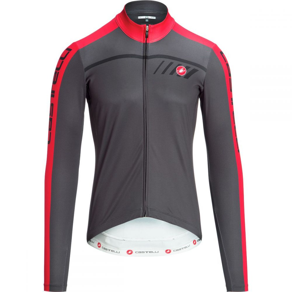 カステリ Castelli メンズ 自転車 トップス【velocissimo 2 limited edition full - zip jersey】Anthracite/Red