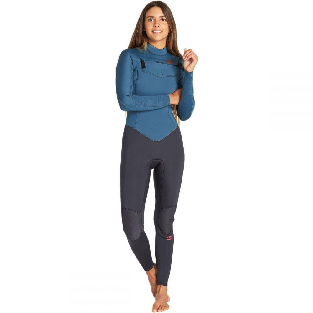 ビラボン Billabong レディース ウェットスーツ フルスーツ 水着・ビーチウェア【4/3 furnace synergy chest - zip full wetsuit】Black Marine