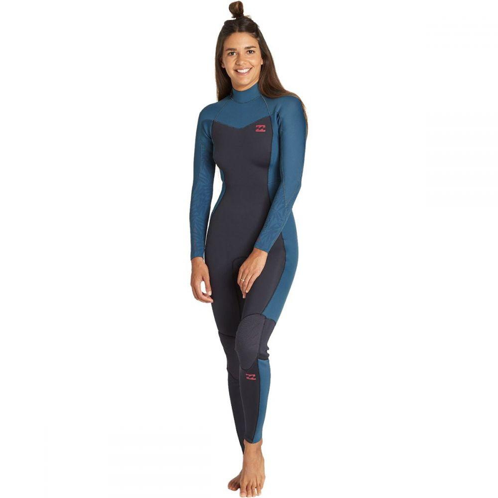 ビラボン Billabong レディース ウェットスーツ フルスーツ 水着・ビーチウェア【3/2mm furnace synergy back - zip gbs full wetsuit】Black Marine