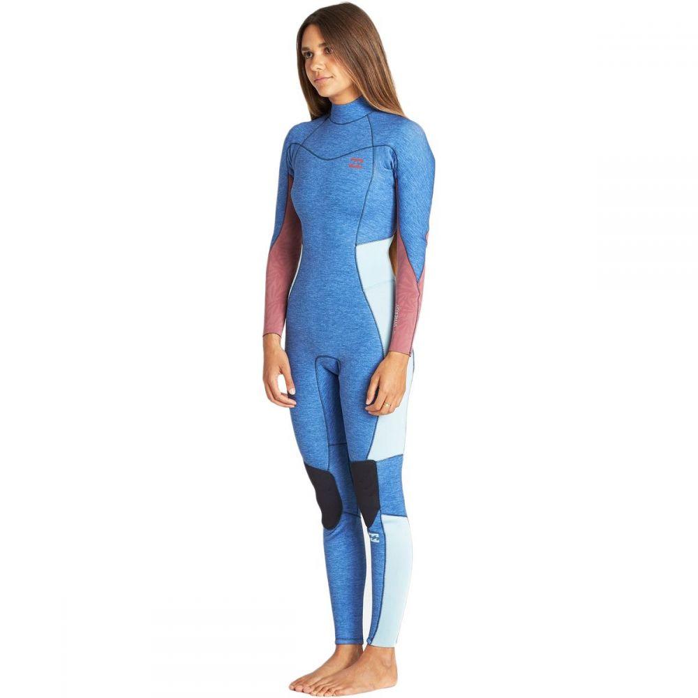 ビラボン Billabong レディース ウェットスーツ フルスーツ 水着・ビーチウェア【3/2mm furnace synergy back - zip gbs full wetsuit】Blue Heather