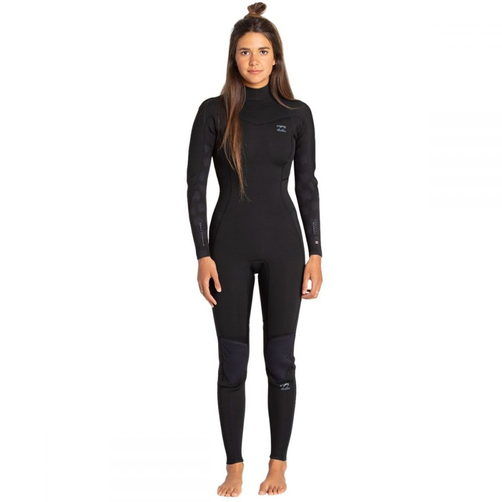 ビラボン Billabong レディース ウェットスーツ フルスーツ 水着・ビーチウェア【4/3 furnace synergy back - zip full wetsuit】Black