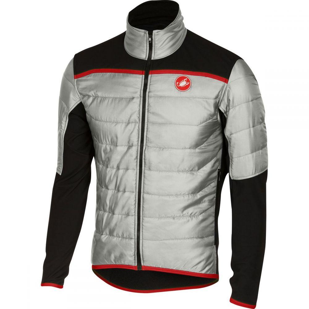 カステリ Castelli メンズ 自転車 ジャケット アウター【cross prerace jacket】Silver/Black